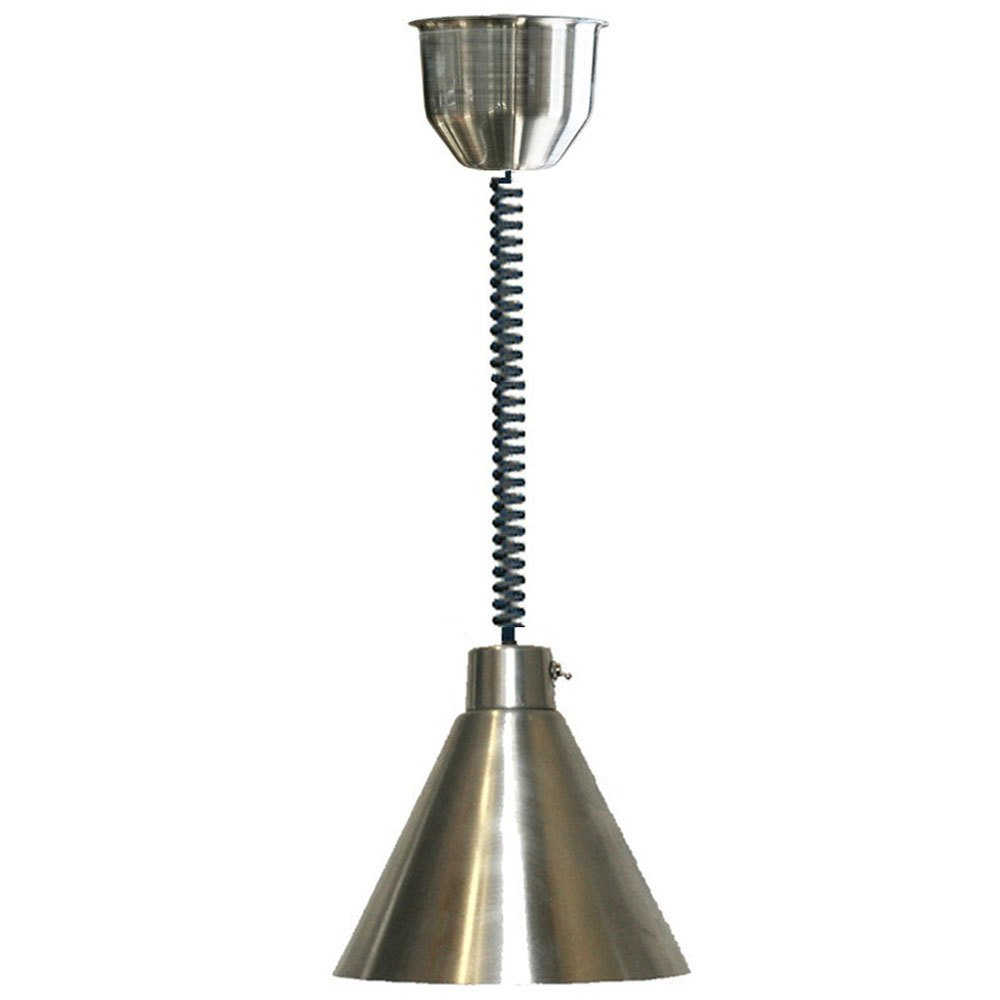 Hanson Heat Lamps 400/RET/BCH Retractable Cord Ceiling Mount Heat Lamp with Brushed Chrome Finish