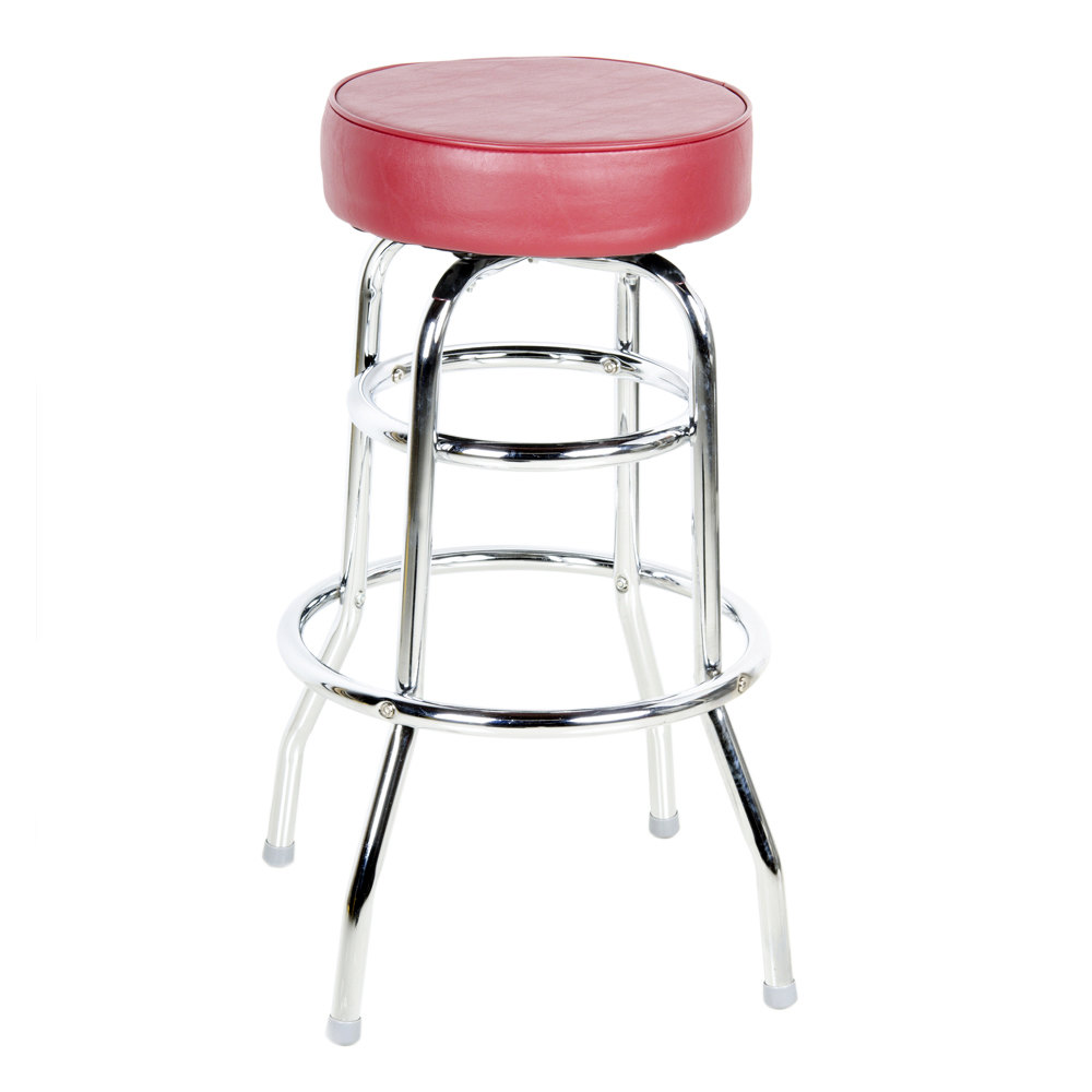 Lancaster Table Amp Seating Crimson Double Ring Barstool