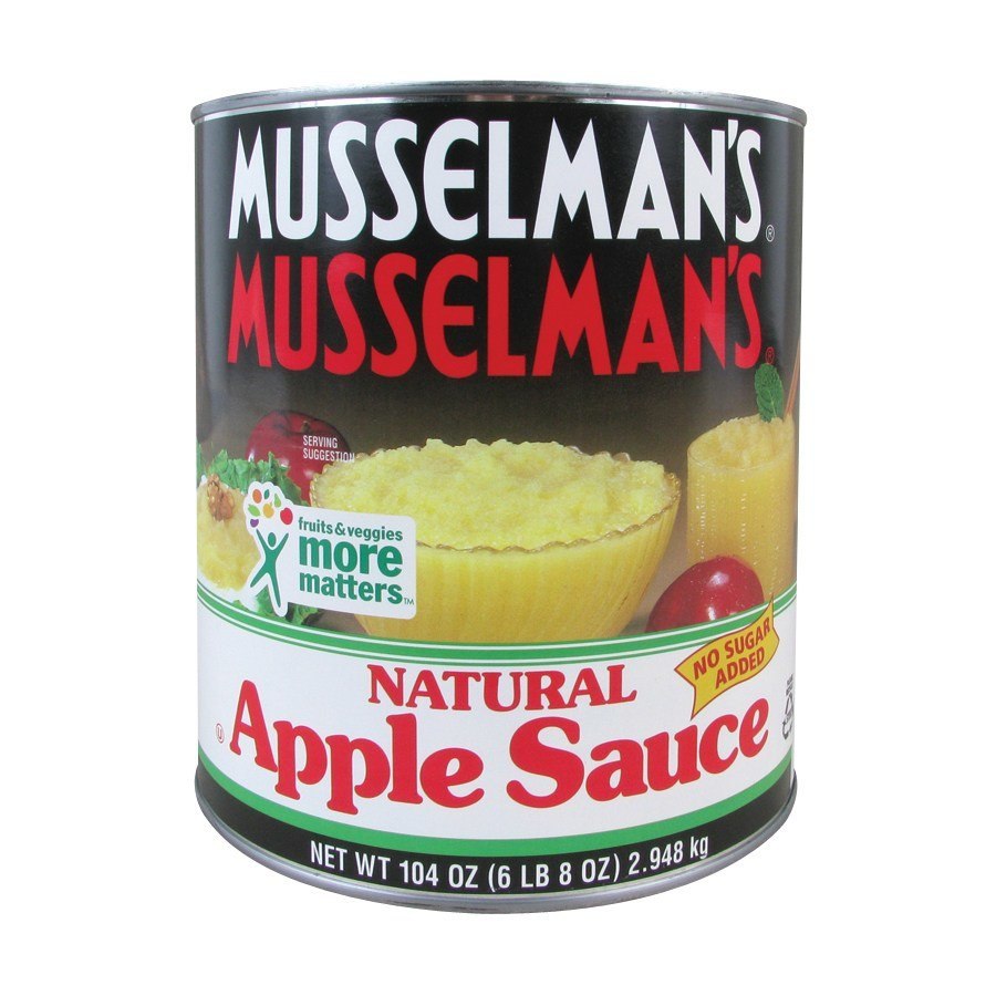 Musselman's Natural Unsweetened Apple Sauce 6 - #10 C