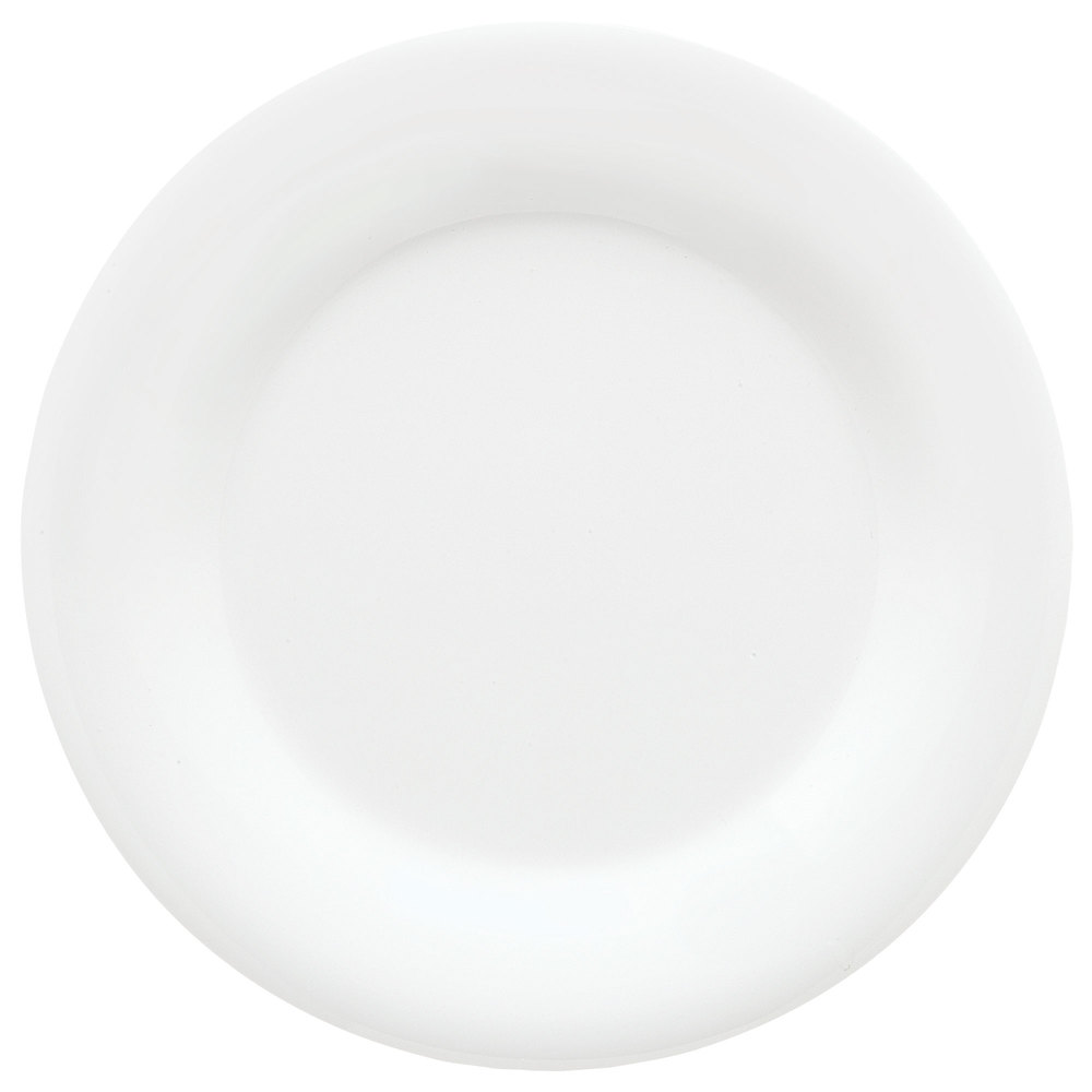 "GET WP-9-DW Diamond Mardi Gras 9"" Diamond White Wide Rim Round Melamine Plate - 24/Case"