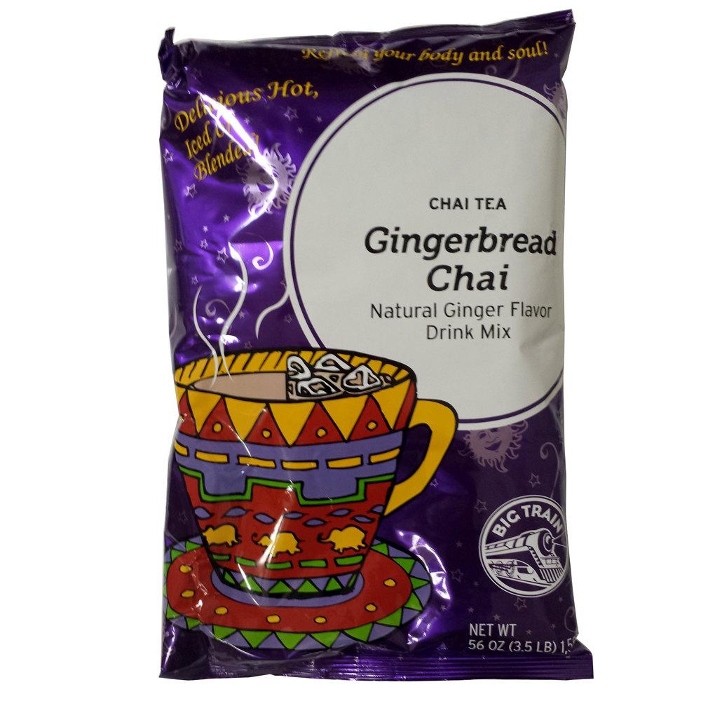 Big Train Gingerbread Chai Tea Latte Mix - 3.5 lb. Bag