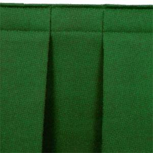 "National Public Seating SB8-48 Green Box Stage Skirt for 8"" Stage - 48"" Long"