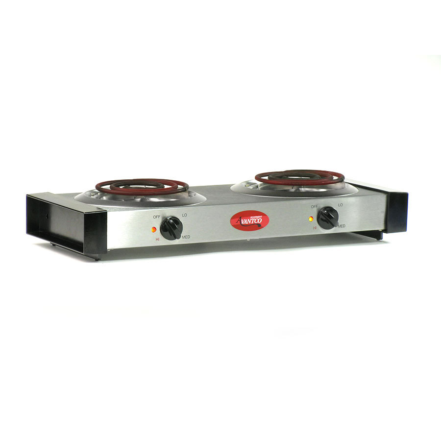 Countertop Stove Burners : Avantco EB102 Double Burner Countertop Range - 120V