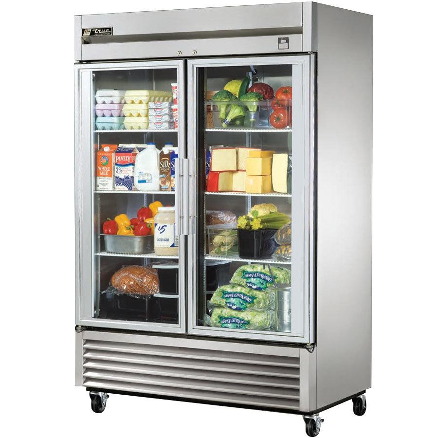 True t 49g ld 55 glass door reach in refrigerator with for 1 glass door refrigerator