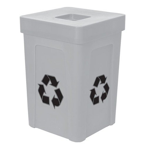 Gray Stacking Flat Lid Recycle Bin - 48 Gallon