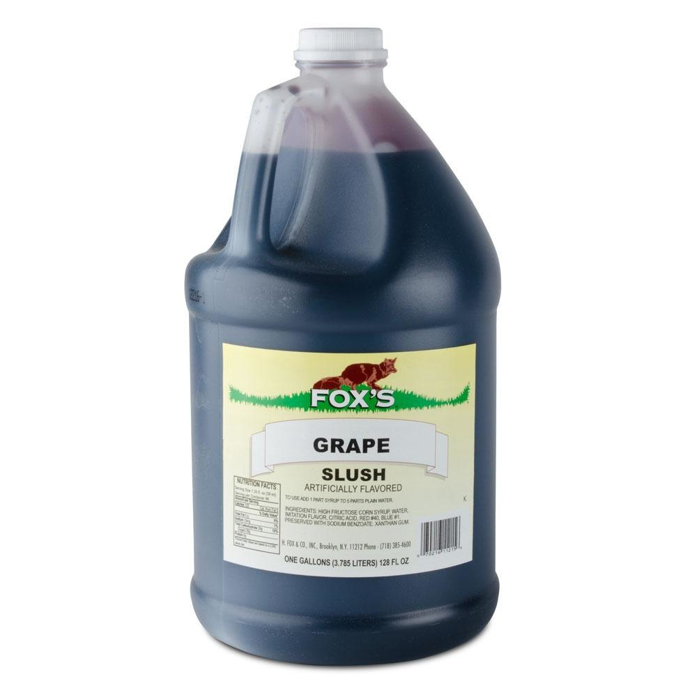 Fox's Grape Slush Syrup 4 - 1 Gallon Containers / Case