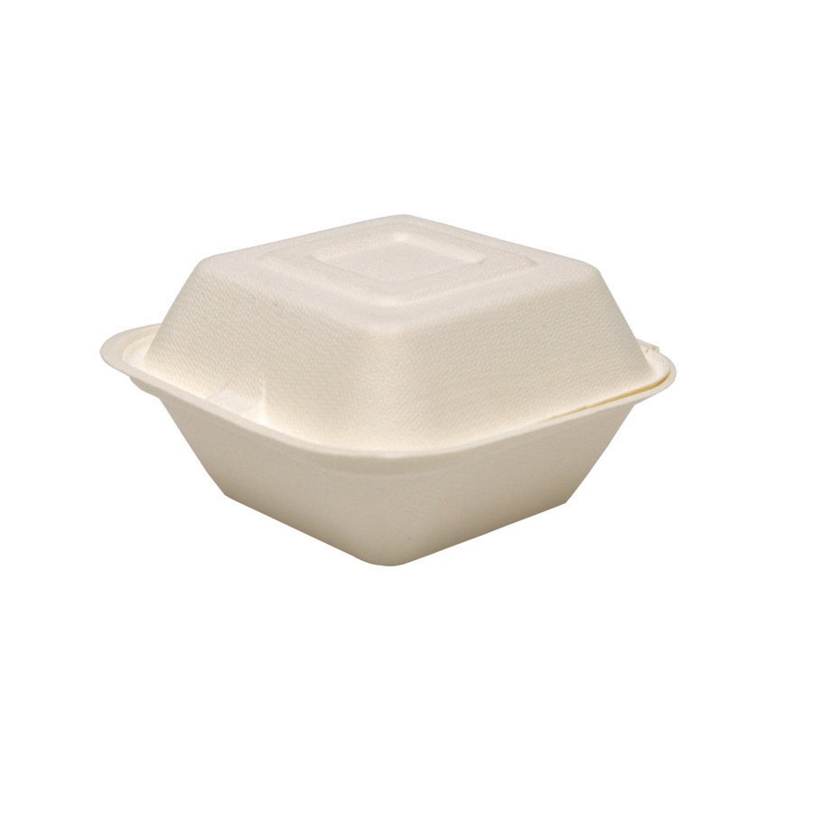 Solo HC6SC-2050 Bare 6 inch Square Sugar Cane Takeout Container - Compostable 400 / Case