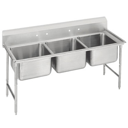 Advance Tabco 93-23-60 Regaline Three Compartment Stainless Steel Sink - 74""