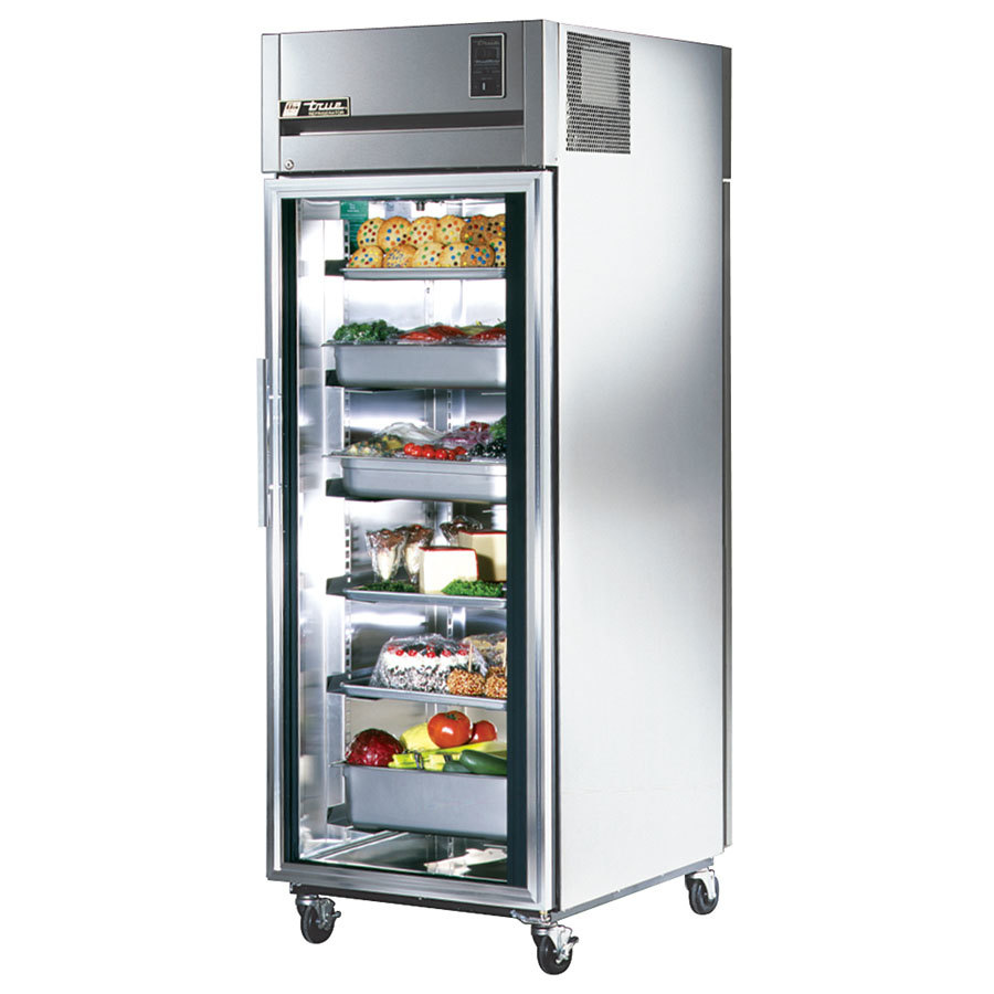 ... Refrigerator with Front Glass and Rear Solid Doors - 37 Cu. Ft