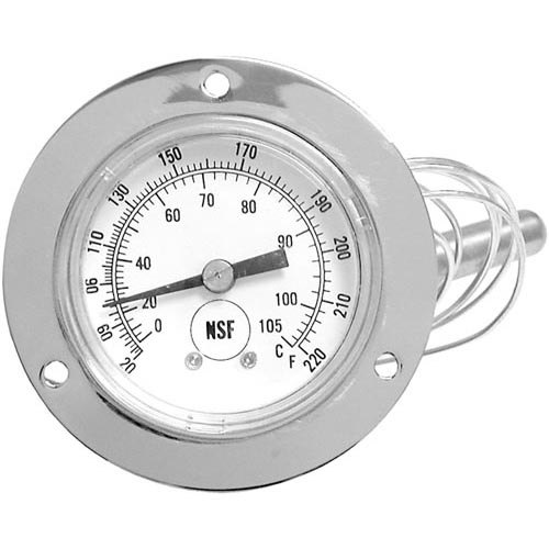 All points temperature gauge to degrees
