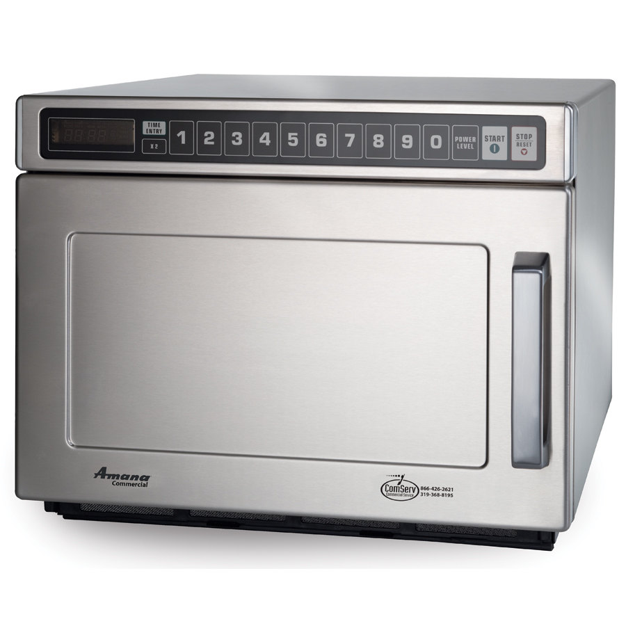Amana Commercial Microwaves Amana HDC18SD2 1800 Watt Heavy Duty Commercial Microwave 208/240V All Stainless with Solid Door at Sears.com
