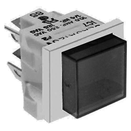 All points square push button on off switch with