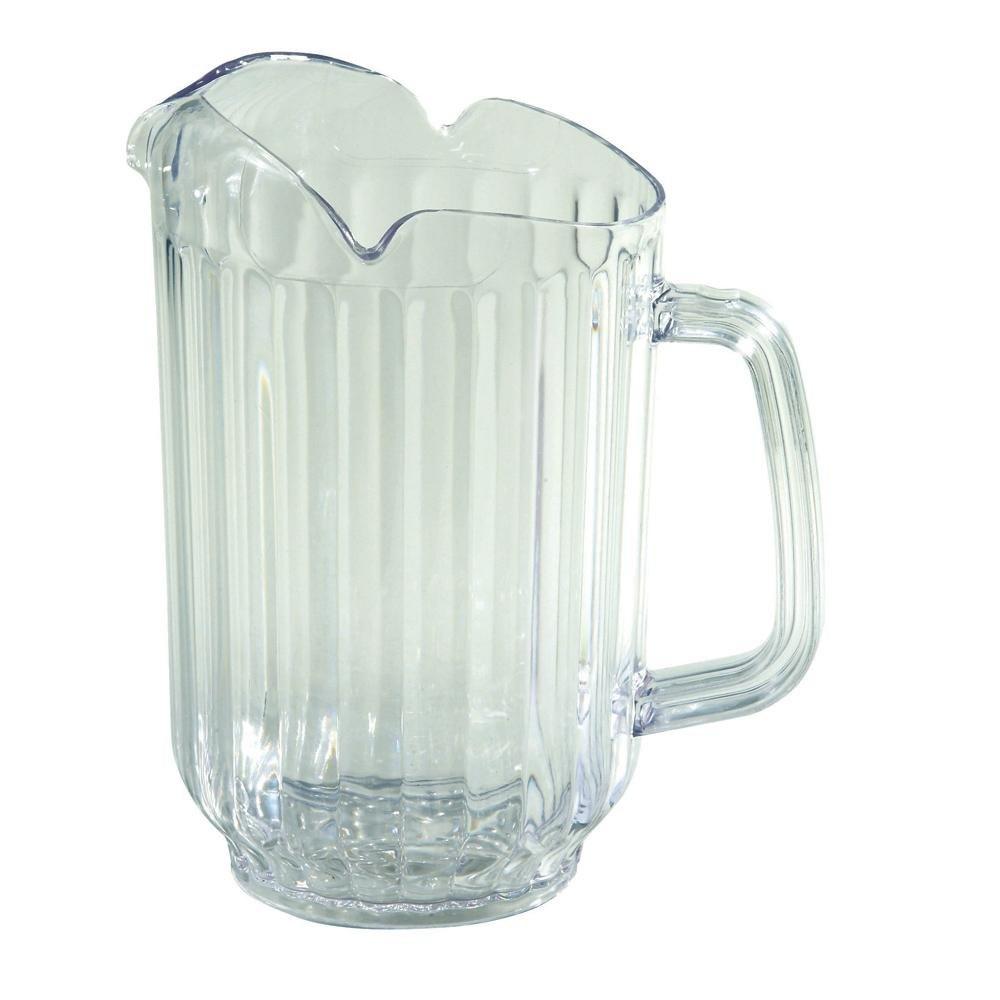 60 oz clear plastic pitcher with 3 spouts. Black Bedroom Furniture Sets. Home Design Ideas