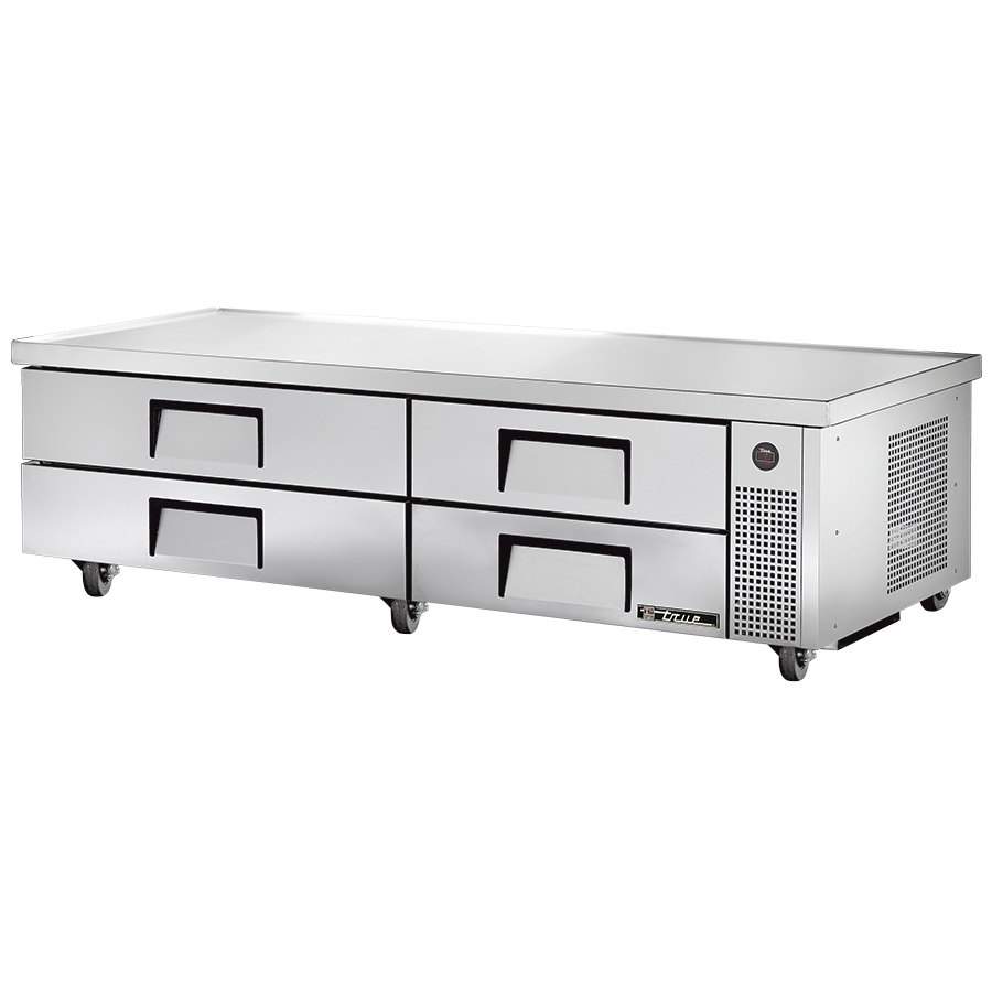 "True TRCB-82-84 84"" Four Drawer Refrigerated Chef Base"