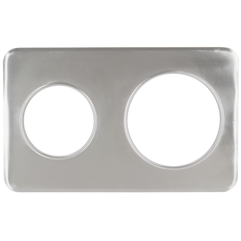 "2 Hole Steam Table Adapter Plate - 6 3/8"" and 8 3/8"""