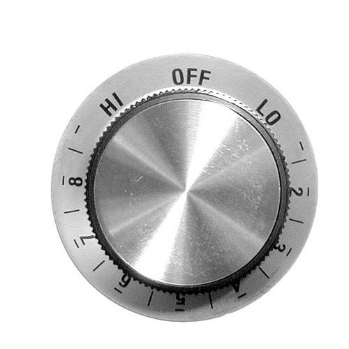 "Star 3040 Equivalent 1 7/8"" Oven / Toaster Infinite Dial (Off, Lo, 2-8, Hi)"