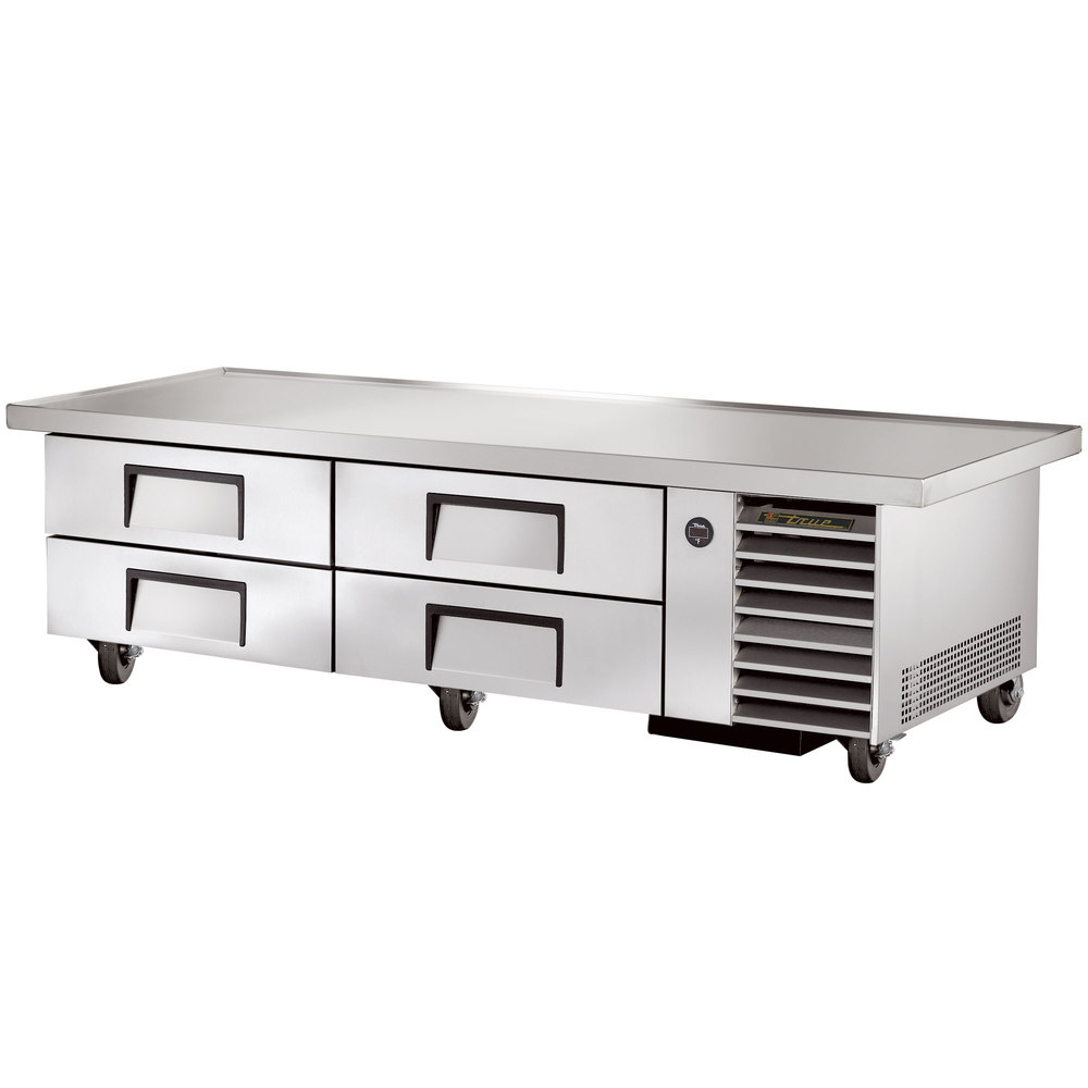 "True TRCB-79-86 86"" Four Drawer Refrigerated Chef Base"