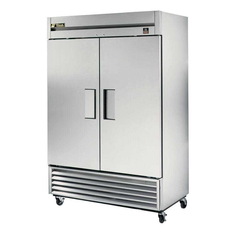 True TS-49F 2 Section Bottom Mounted Reach-In Freezer - All Stainless Steel