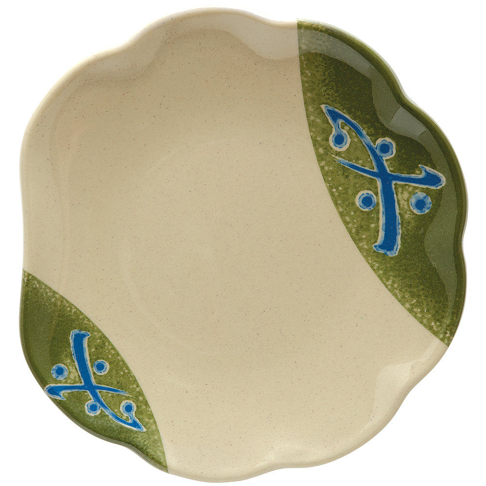 "GET 139-TD Japanese Traditional 8"" Scallop Plate 12 / Case"