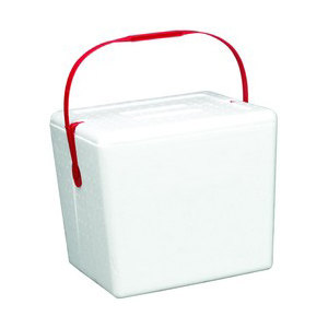 "Small Foam Cooler with Handle - 11 3/4"" x 8 3/4"""
