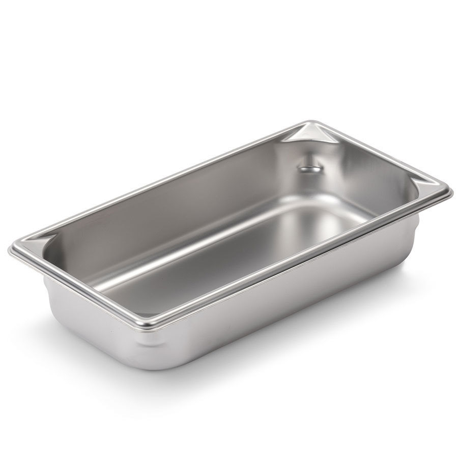 Vollrath Super Pan V 30322 1/3 Size Stainless Steel Anti-Jam Steam Table / Hotel Pan - 2 1/2 inch Deep