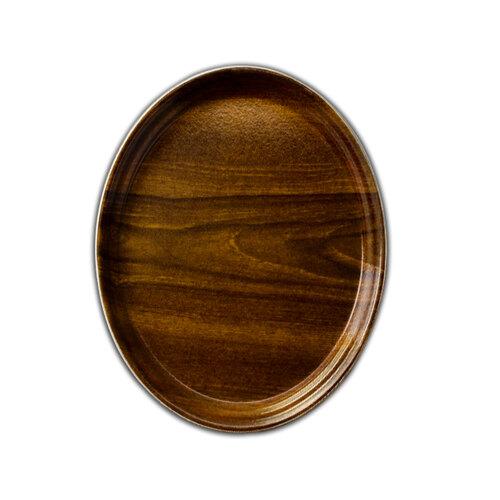 """Cambro 2700308 22"""" x 26 7/8"""" Oval Burma Teak Fiberglass Camtray - 6 / Case at Sears.com"""
