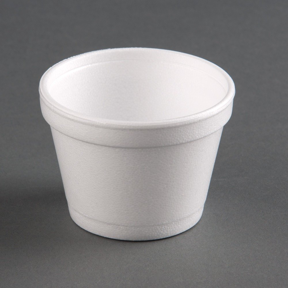 Dart 12SJ20 12 oz. White Customizable Foam Food Bowl 500 / Case