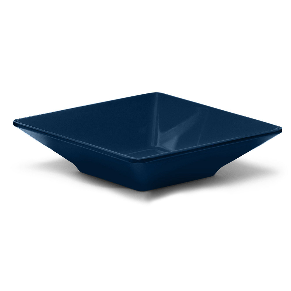 Elite Global Solutions DB834SQ Squared Lapis 1.6 Qt Square Melamine Bowl