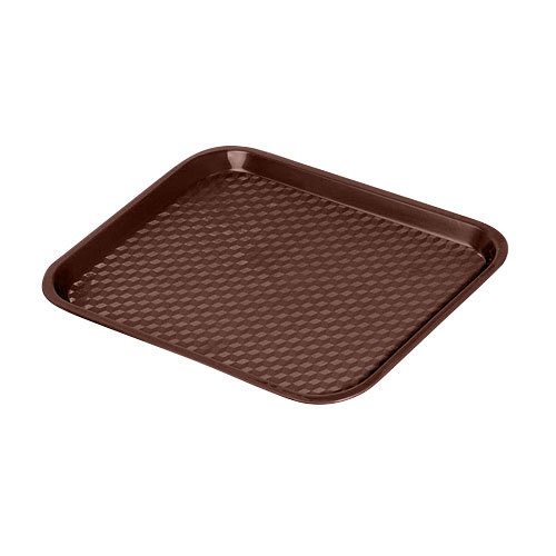"GET FT-14-BR Brown 14"" x 10 3/4"" Polypropylene Fast Food Tray - 24/Case"