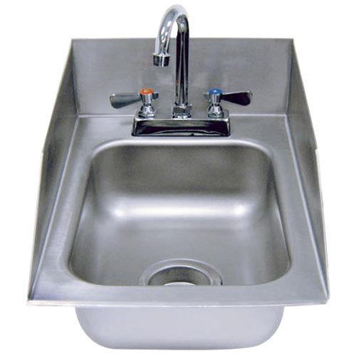 Stainless Steel Drop In Utility Sink : Advance Tabco DI-1-5SP Drop In Stainless Steel Sink with Side Splash 5 ...
