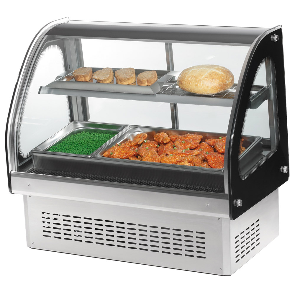 Small Commercial Food Warmer ~ Vollrath quot curved glass drop in heated countertop
