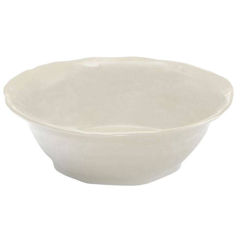 Elite Global Solutions M113BRF Tuscany Antique White 2.5 Qt. Flared Round Bowl