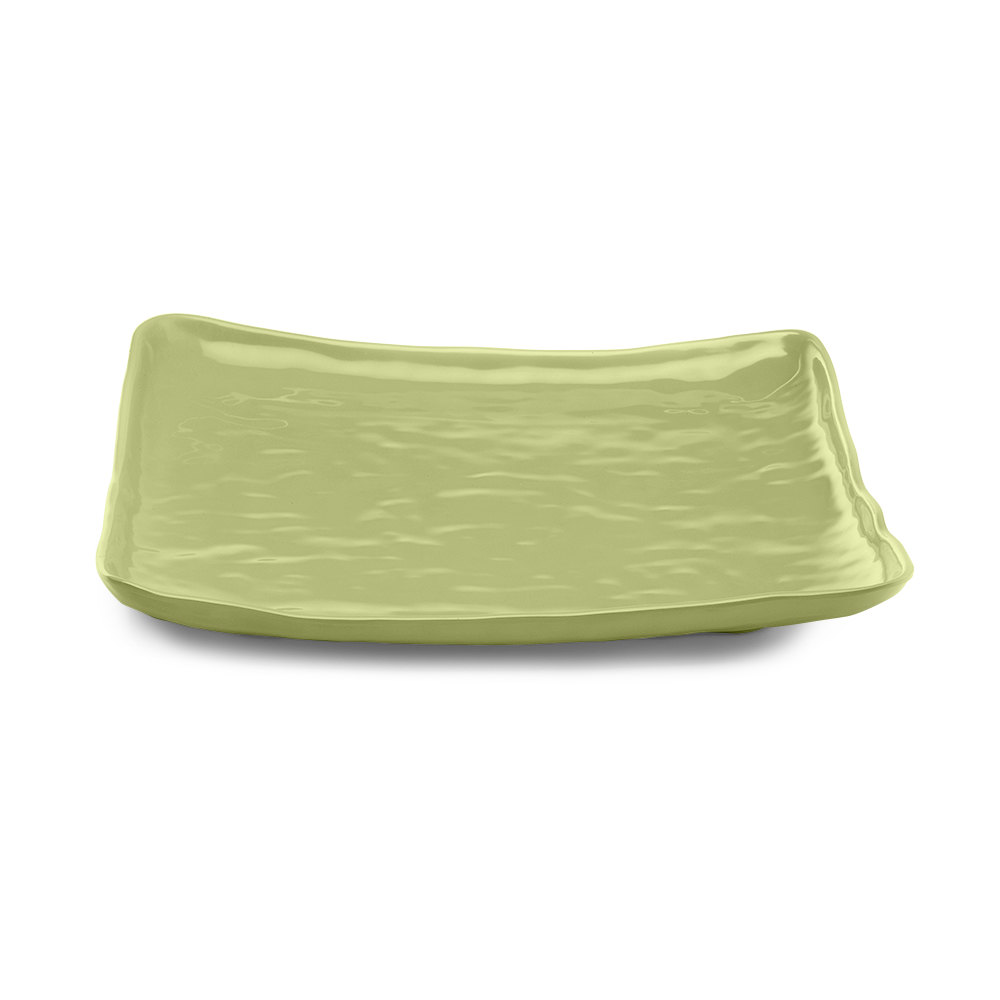 "Elite Global Solutions M14SQRF Tuscany Weeping Willow Green 13 1/2"" Square Plate"