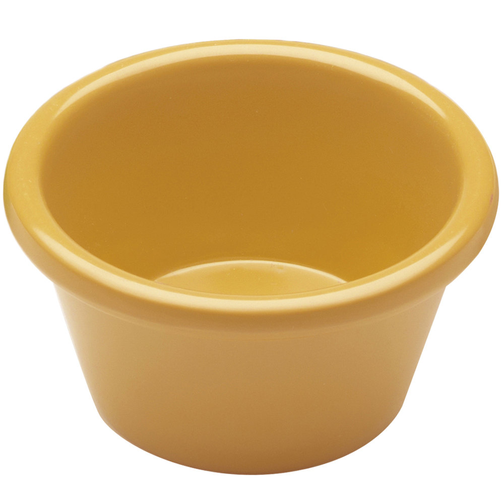 Elite Global Solutions R3SM Rio Yellow 3 oz. Melamine Ramekin