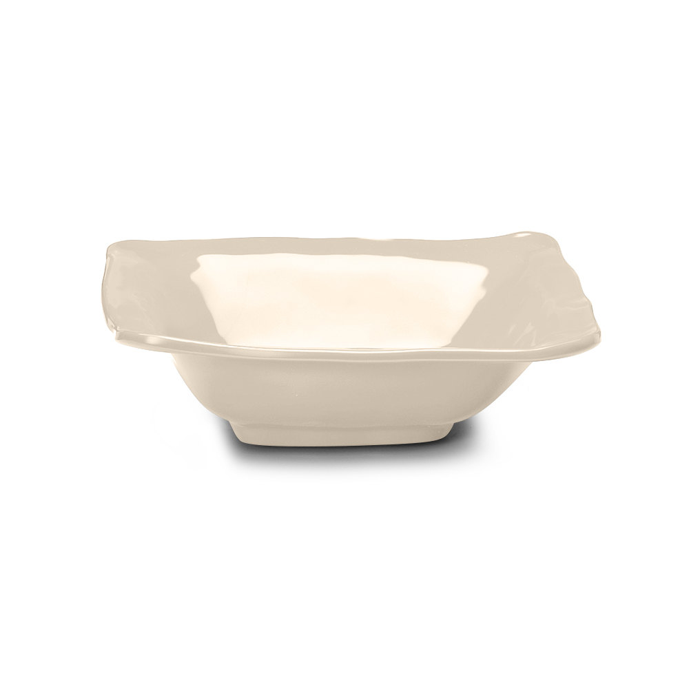 Elite Global Solutions M103BRF Tuscany Antique White 1.75 Qt. Square Bowl