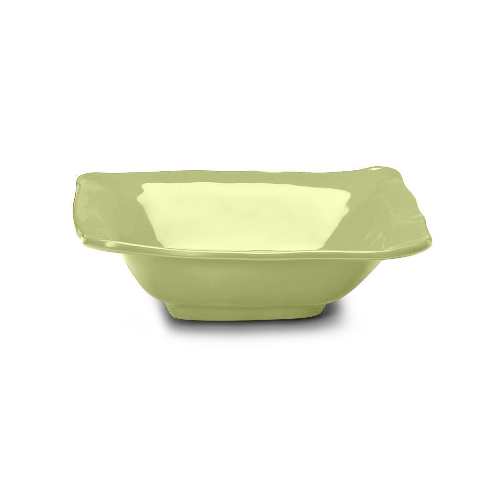 Elite Global Solutions M103BRF Tuscany Weeping Willow Green 1.75 Qt. Square Bowl