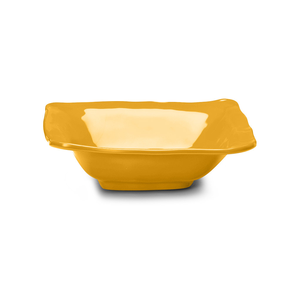 Elite Global Solutions M103BRF Tuscany Yellow 1.75 Qt. Square Bowl