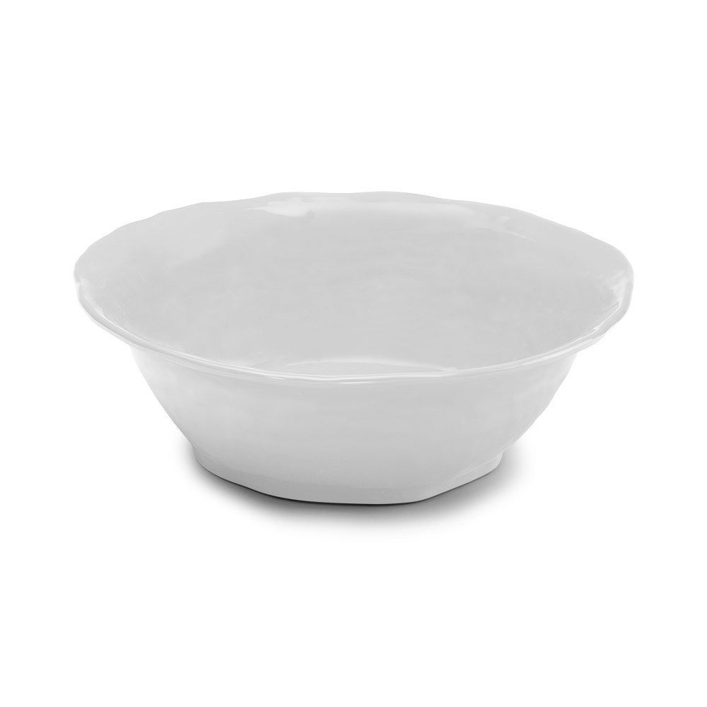 Elite Global Solutions M14BRF Tuscany White 6 qt. Round Bowl