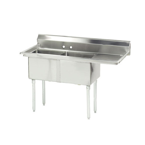 Advance Tabco FE 2 1620 18 X Two partment Stainless Steel mercial Sink