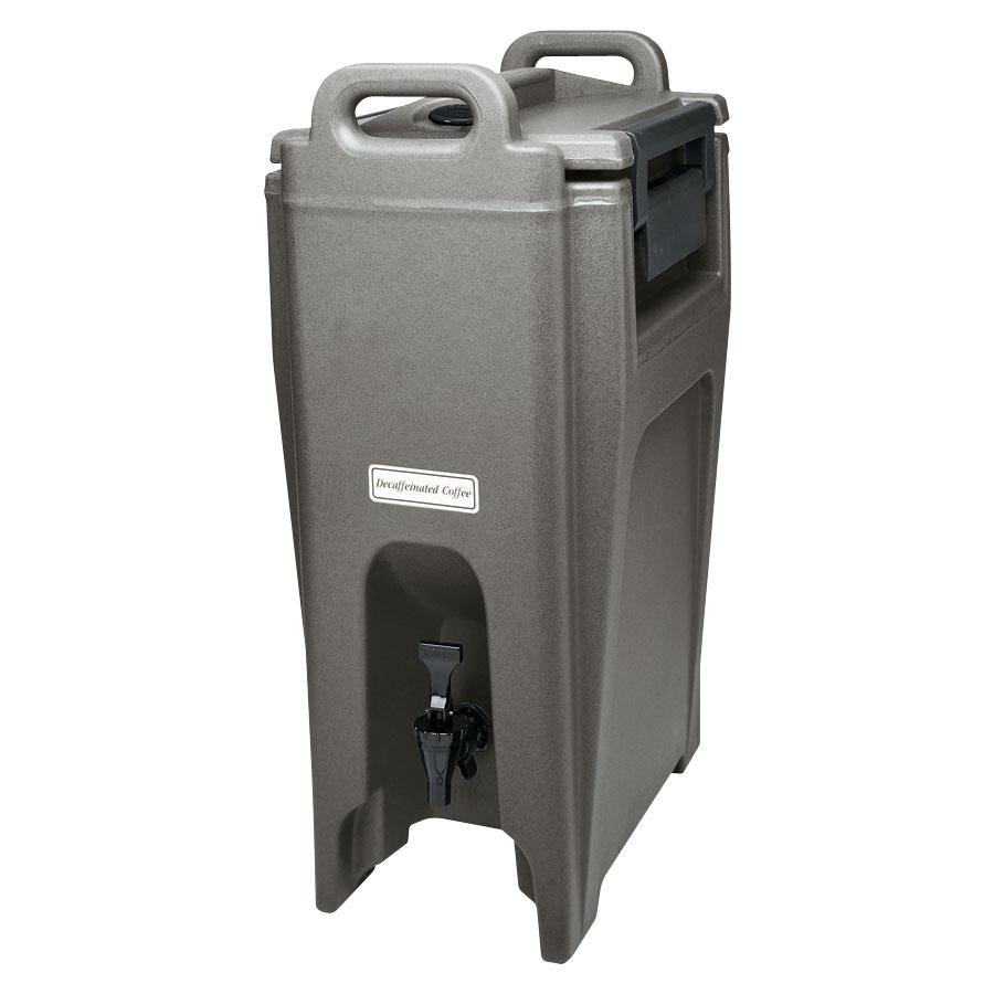 Cambro UC500191 Granite Gray Ultra Camtainer 5.25 Gallon Insulated Beverage Dispenser