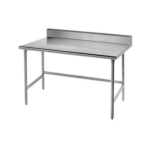 professional stainless steel work table with 5 backsplash 48 quot