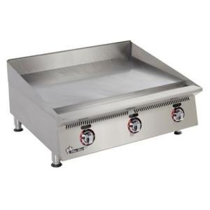Star 824TSA Ultra Max 24 inch Countertop Gas Griddle with Snap Action Controls and Direct Spark Ignition - 80,000 BTU