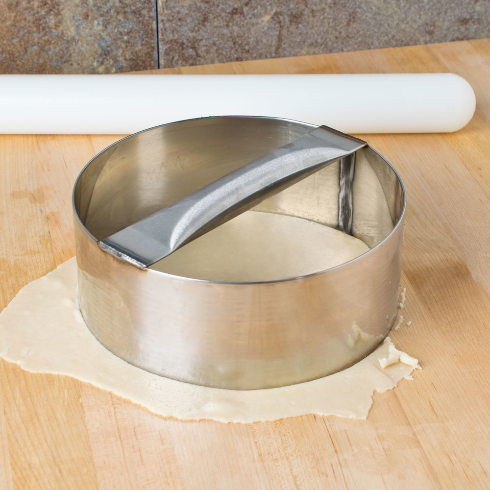 "American Metalcraft RDC9 9"" x 3"" Stainless Steel Dough Cutting Ring"