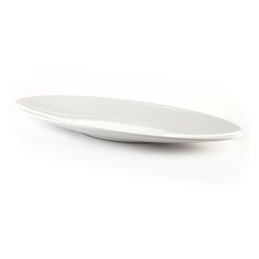 Elite Global Solutions M249SP Moderne Display White 2.5 qt. Large Oblong Salmon Platter at Sears.com