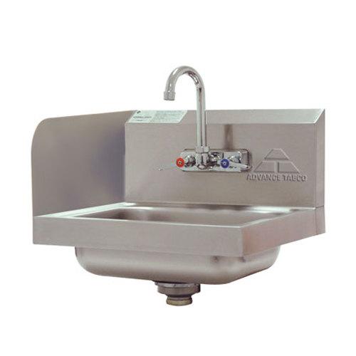 Sink Splash Guard : ... Sink with Splash Mounted Gooseneck Faucet and Left Side Splash Guard
