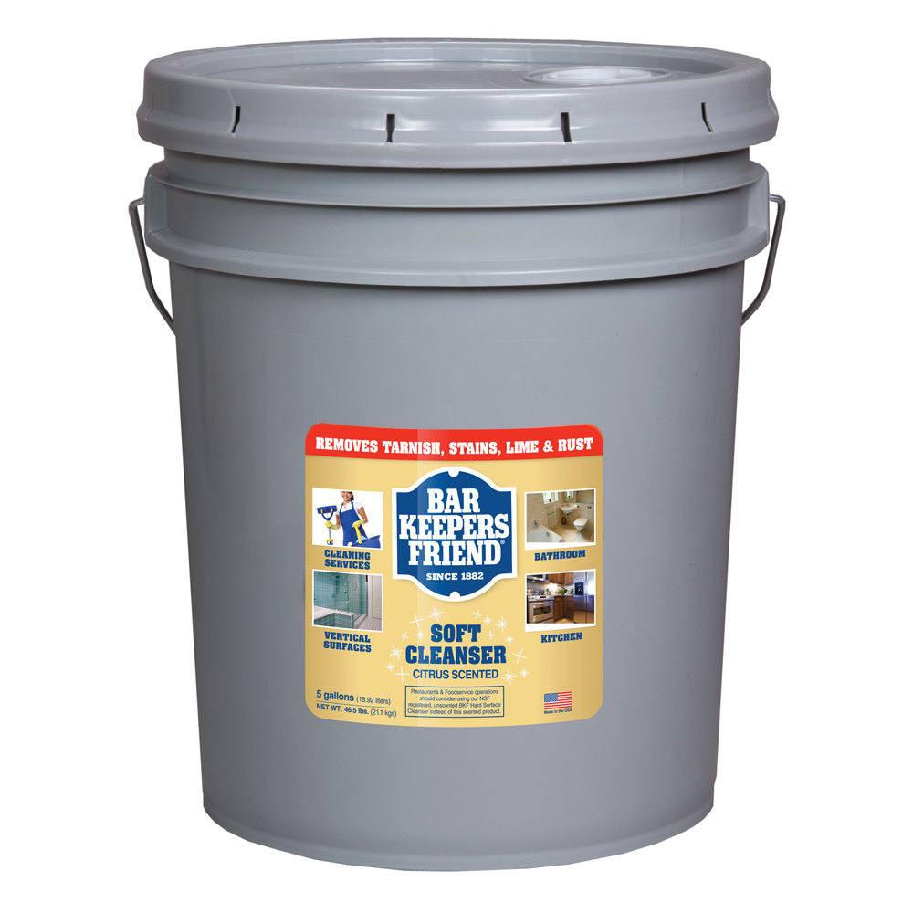 All purpose bathroom cleaner - Bar Keepers Friend 5 Gallon All Purpose Soft Cleanser