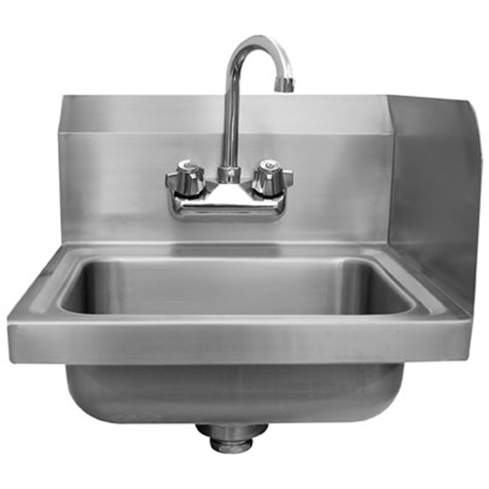 ... Sink with Splash Mounted Gooseneck Faucet and Right Side Splash Guard