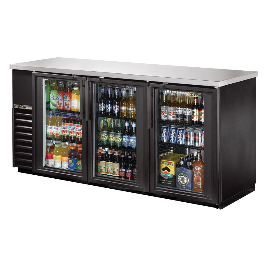 "True Refrigeration True TBB-24-72G 72"" Back Bar Refrigerator with Glass Doors at Sears.com"