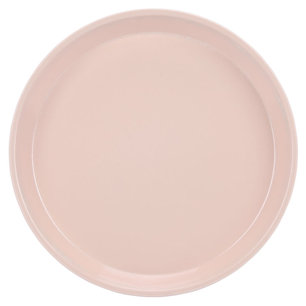 "Cambro 1000106 10"" Round Light Peach Fiberglass Camtray - 12 / Case"