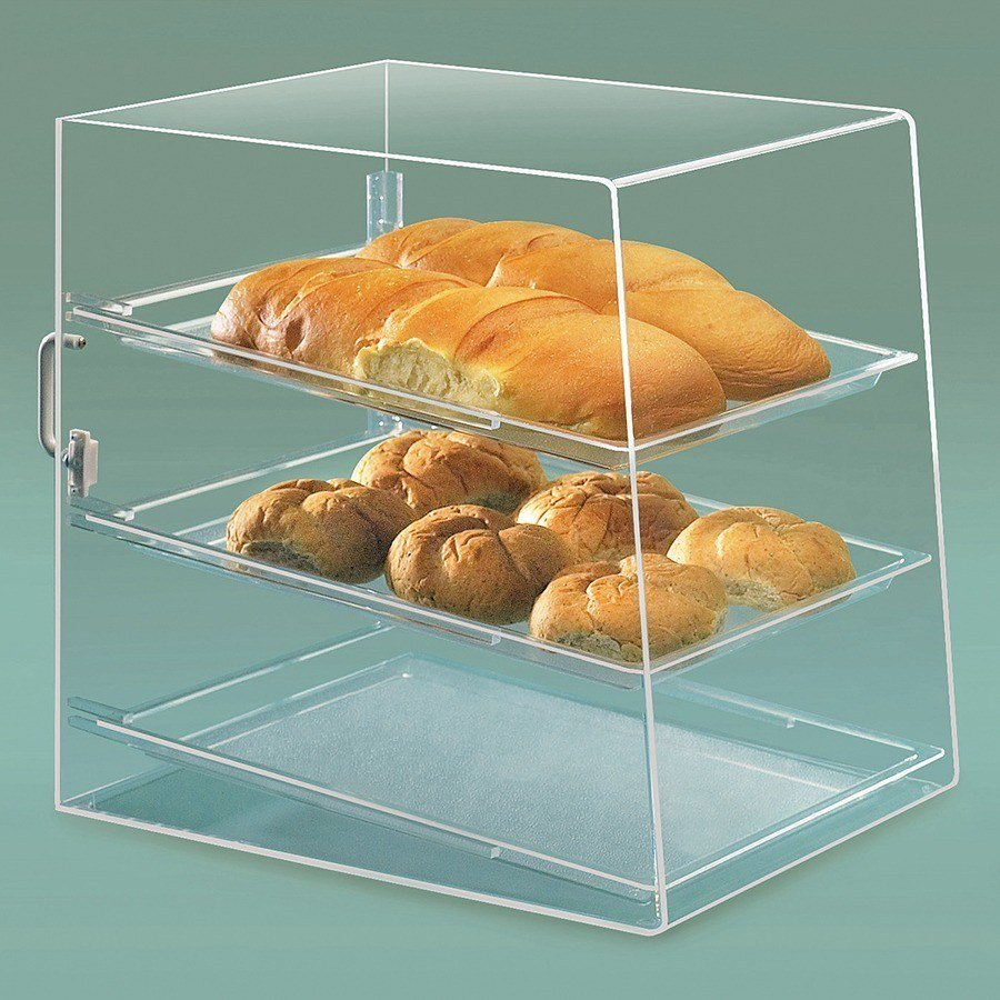 Cal Mil 241 Acrylic Bakery Display Case with Rear Door - 3 Tray 13 1/2 inch x 20 inch x 18 inch